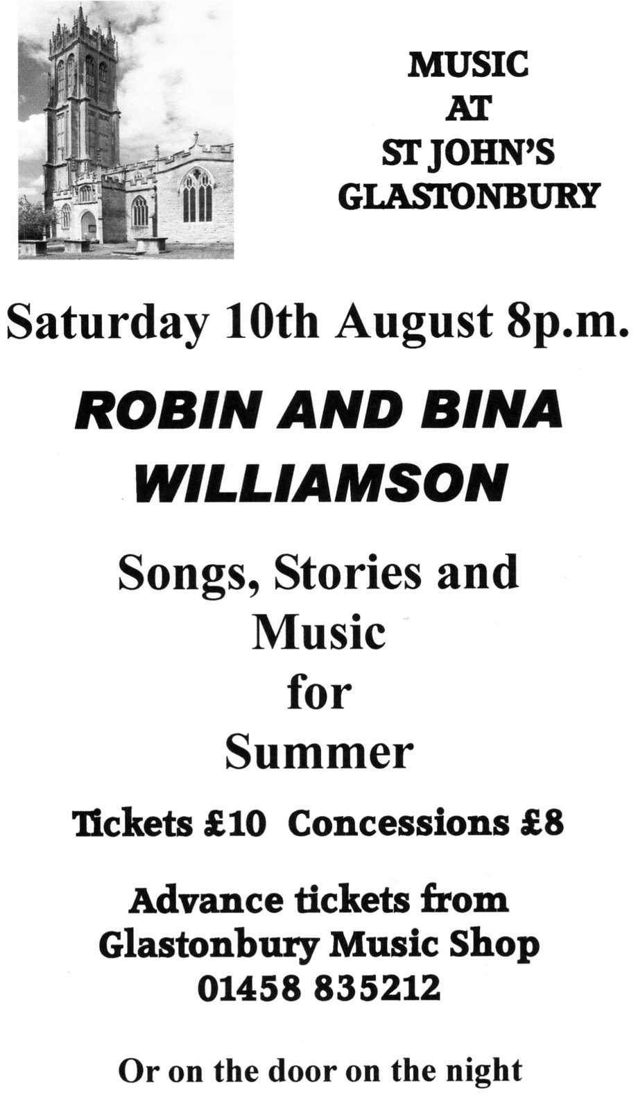 Robin and Bina Concert